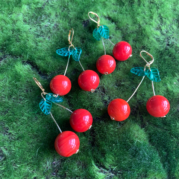 Summer Cherry Earrings