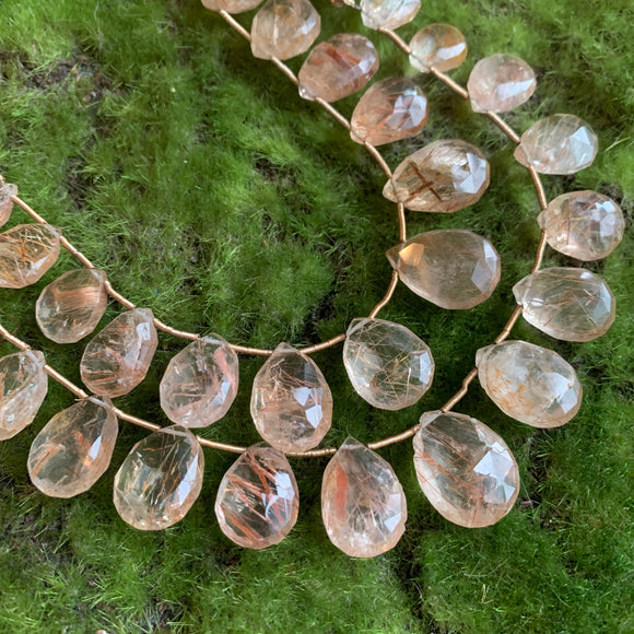 Rutilated Quartz Briolettes