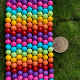 Rainbow Glass Beads