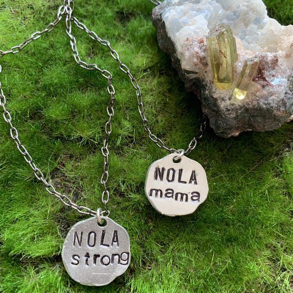 NOLA Strong and NOLA Mama Necklaces