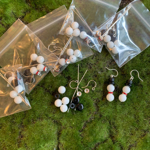 Snowmen Earring Kits and Finished Earrings