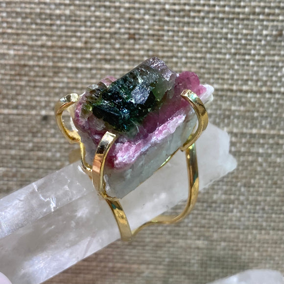 Watermelon Tourmaline Ring #5