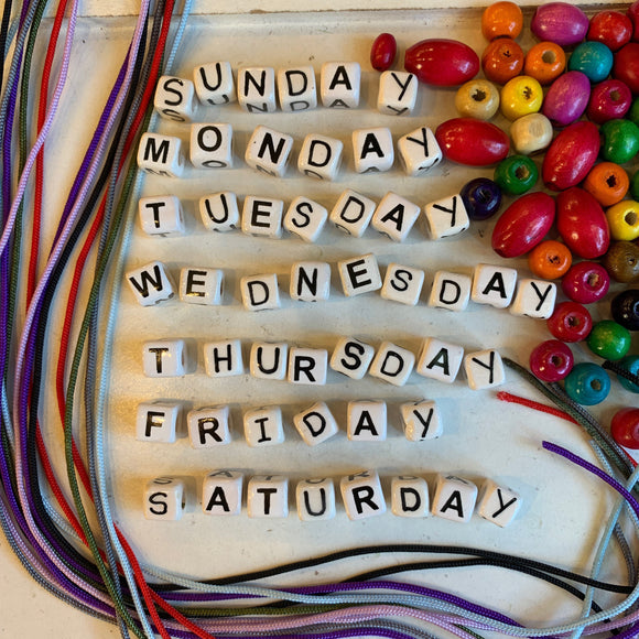 Days of the Week Necklace Kit