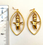 King Cake Baby Earrings: SASSY KING baby