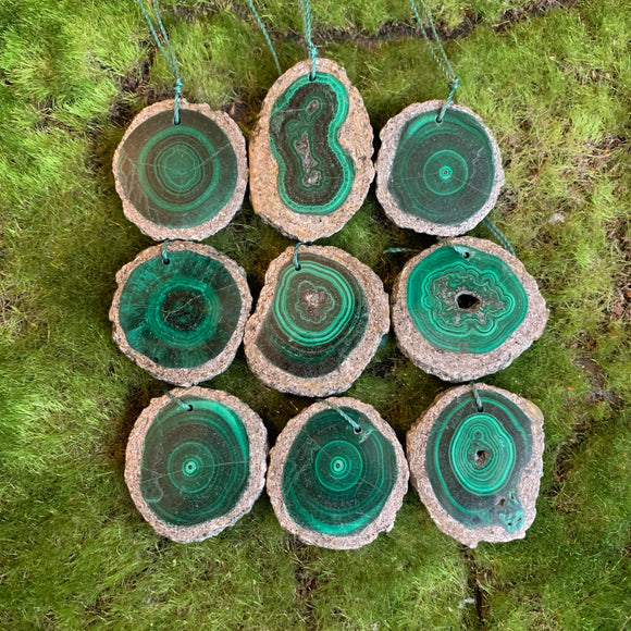 Malachite Stalactite Slices