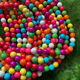 Dyed Howlite - Multi-Color - 10mm