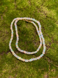 Ethiopian White Opal Knotted NECKLACE