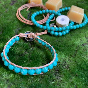 Leather Wrap Bracelet Kit with Instructional Download