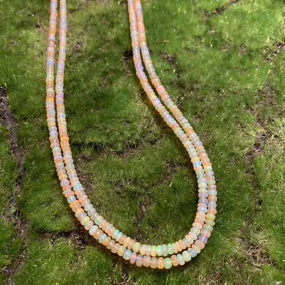 Ethiopian Yellow Opal  - Slightly Graduated 3-4mm Full Strand