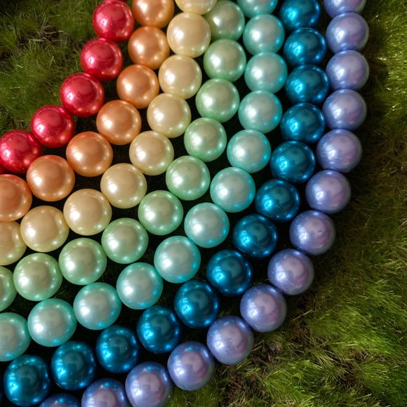 Glass Pearl Rainbow Set - 10mm