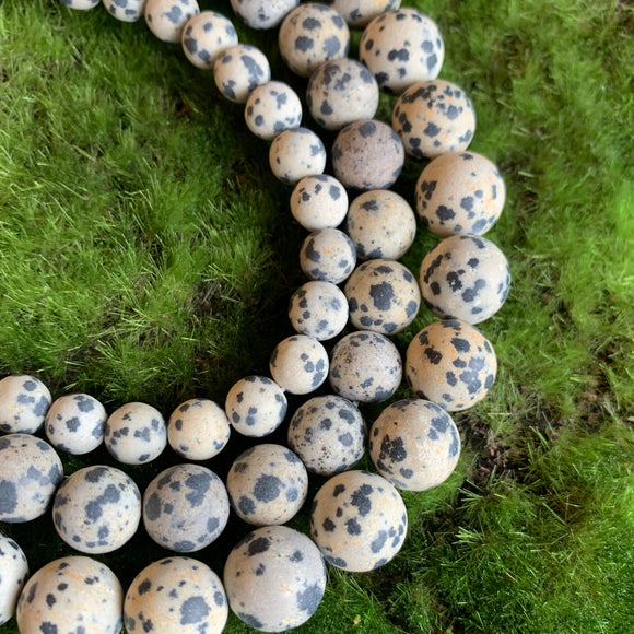 Matte Dalmation Jasper Strands