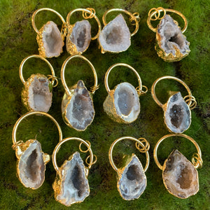 Plated Geode Pendants