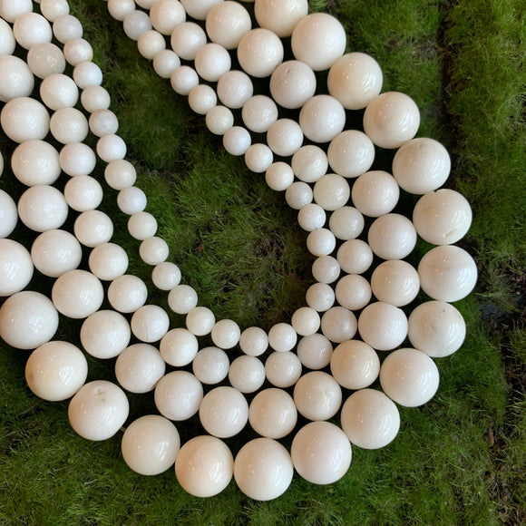 Natural White Jade Rounds