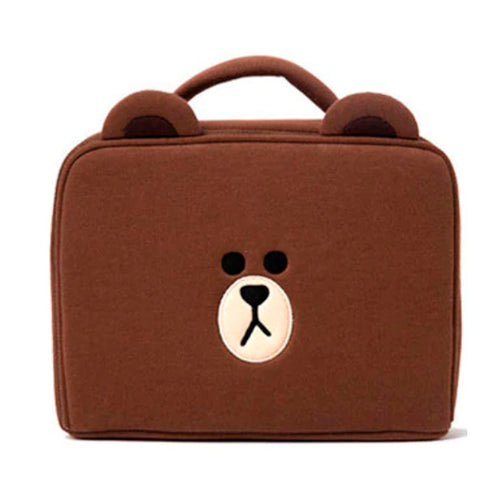 Brown Cosmetic Bag