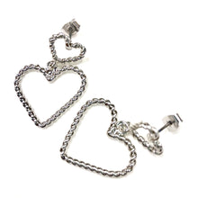 Load image into Gallery viewer, ESN007-Dual Heart Earrings