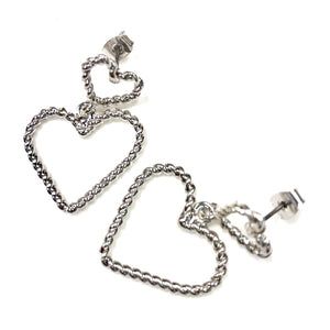 ESN007-Dual Heart Earrings