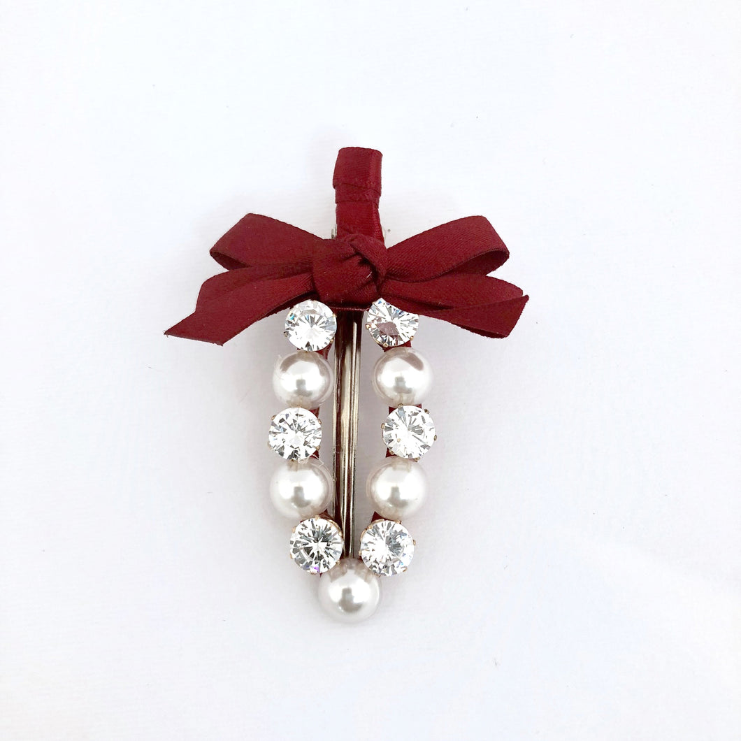 Hair Clip -Red
