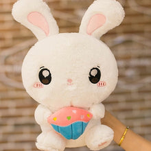 Load image into Gallery viewer, White Cupcake Bunny Plushie