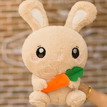 Load image into Gallery viewer, Light Brown Carrot Bunny Plushie