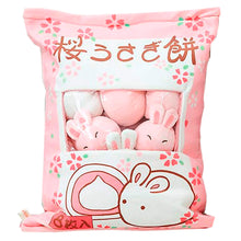 Load image into Gallery viewer, Cushion Toy Pillow with Little Dolls (Rabbits)