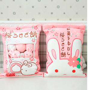 Cushion Toy Pillow with Little Dolls (Rabbits)