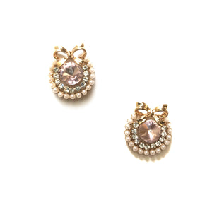 ESN042-Pink Jewel Earrings