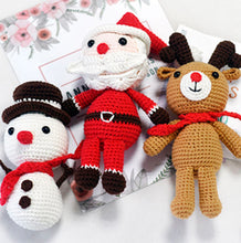 Load image into Gallery viewer, Santa Claus,Elk, Snowman Knitting