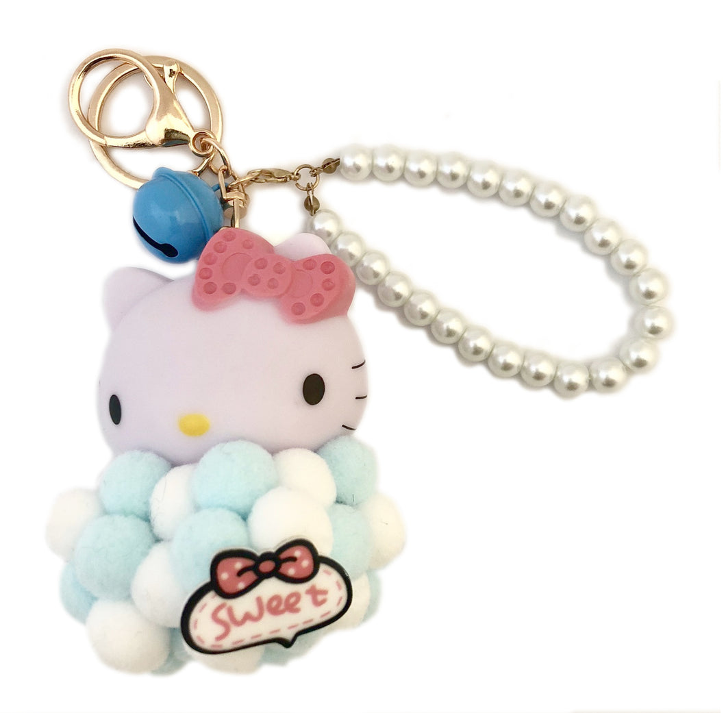 Hello Kitty Keychain- Blue