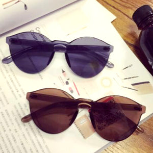 Solid Black Frame Sunglasses