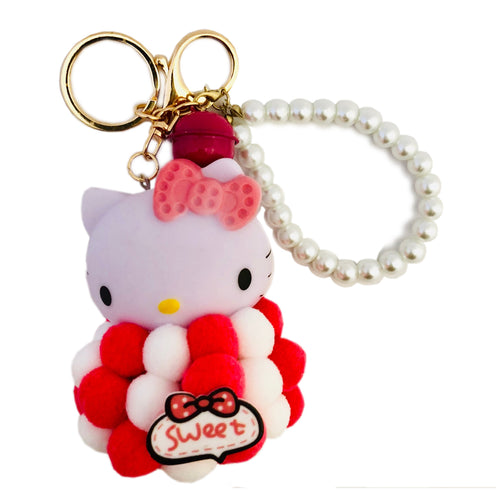 Hello Kitty Keychain- Red