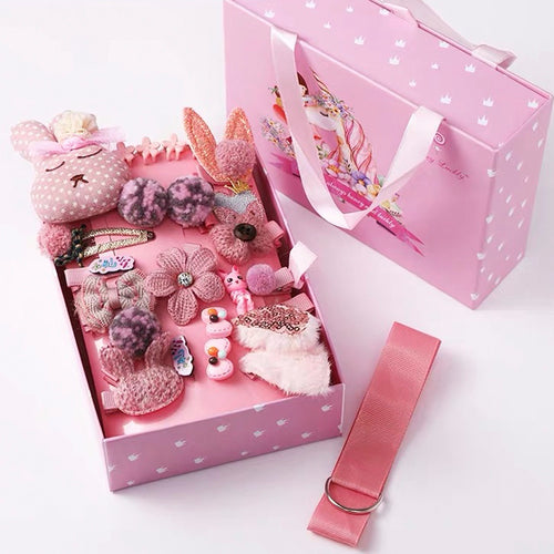 Kids Hair Clips Gift Box D