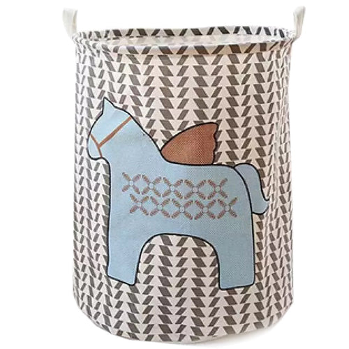 Collapsible Blue Unicorn Hamper