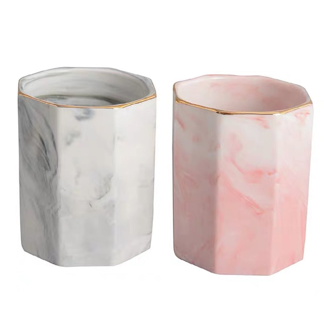 Marble Pattern Pencil Holder