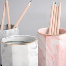 Load image into Gallery viewer, Marble Pattern Pencil Holder