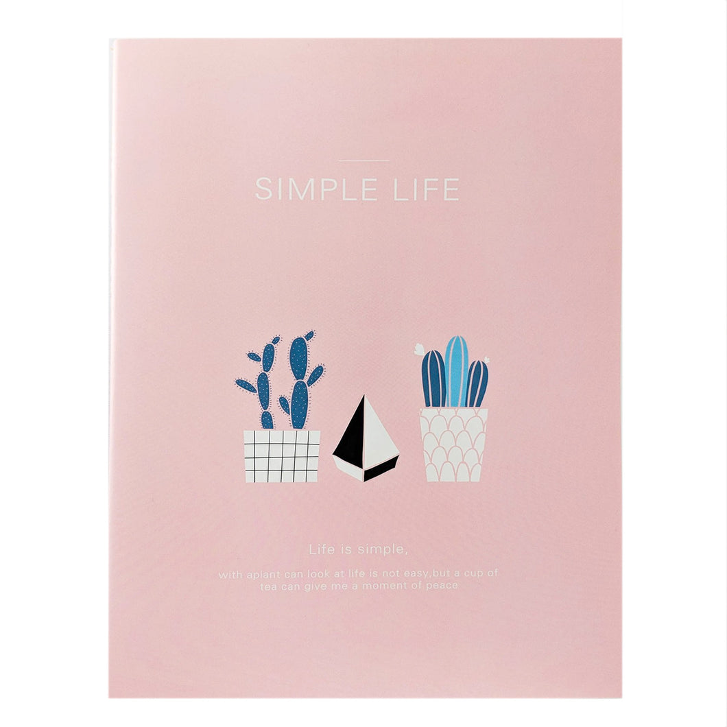 Pink Potted Plants Notebook