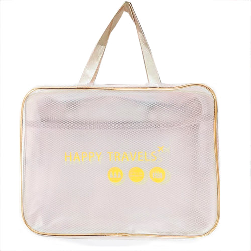 Light Grey Transparent Travel Bag