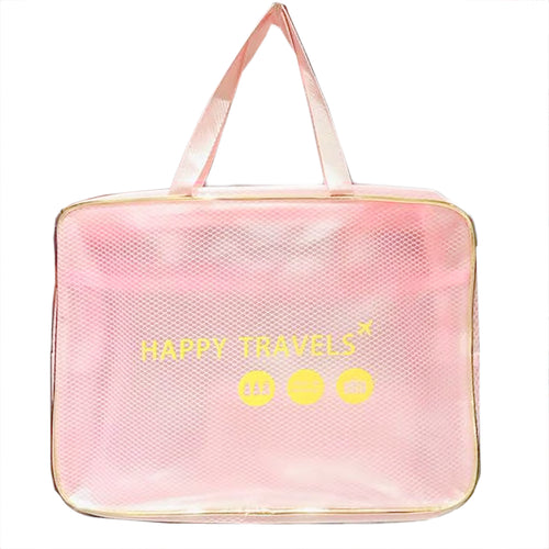 Light Pink Transparent Travel Bag