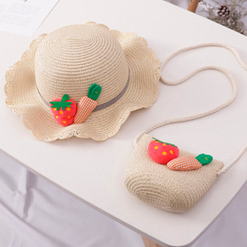 Summer Strawberry - Hat and Bag/Milky white