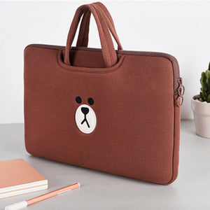 Laptop Bag Brown-Brown