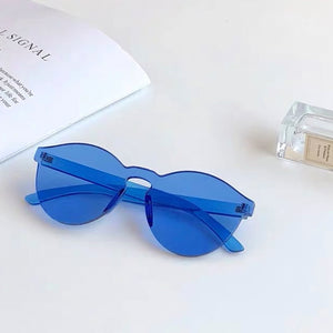 Solid Blue Frame Sunglasses