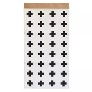 Cross Patterned Paper Bag