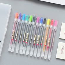 Load image into Gallery viewer, Japan Style Gel Pen 0.5mm Color Ink Pen / 12 Pcs