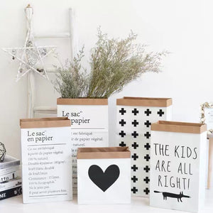 Tall Light Brown Paper Bag Decor