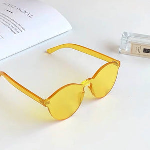 Solid Yellow Frame Sunglasses