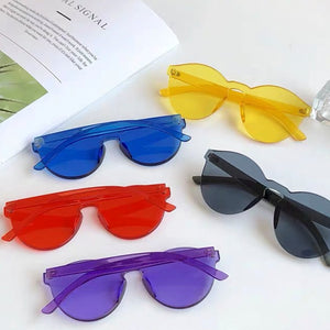 Solid Purple Frame Sunglasses