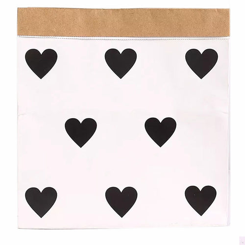 Heart Pattern Paper Bag Decor