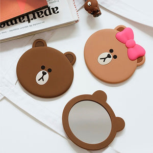 Brown Pocket Hand Mirror