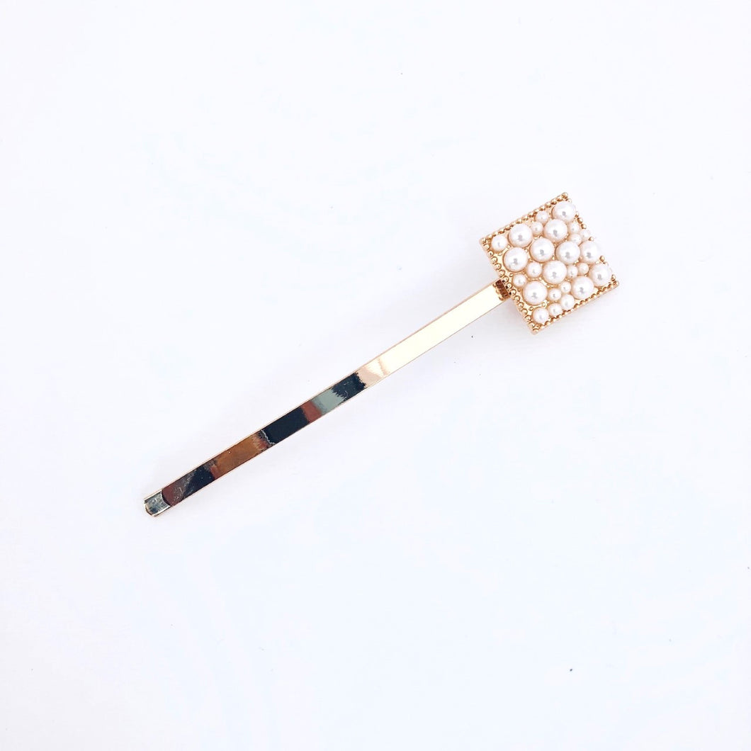 Small Square Pearl Hair Clip