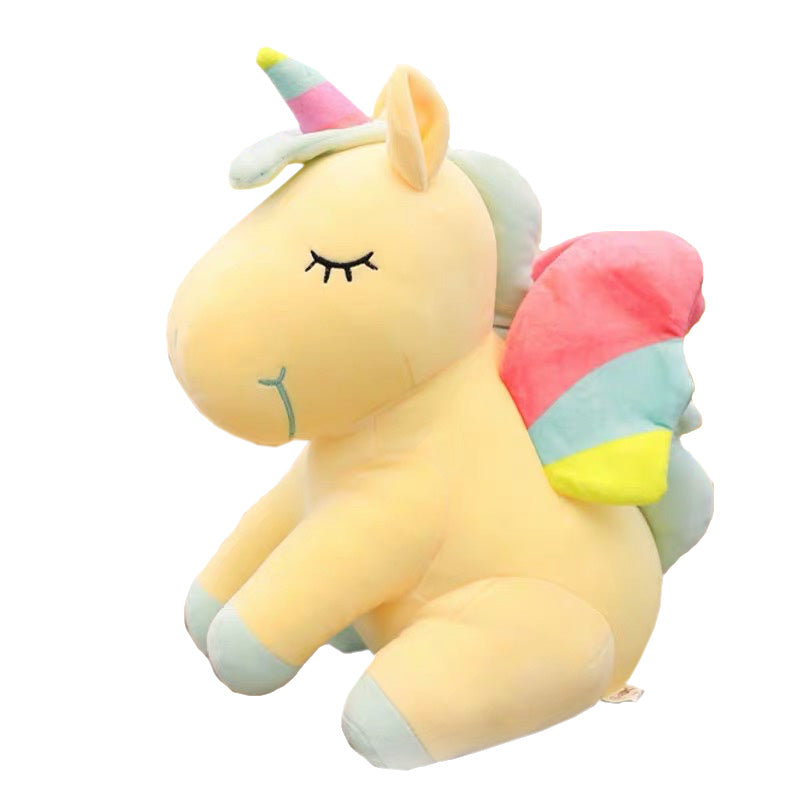 Plush Unicorn Stuffed Animal-Yellow