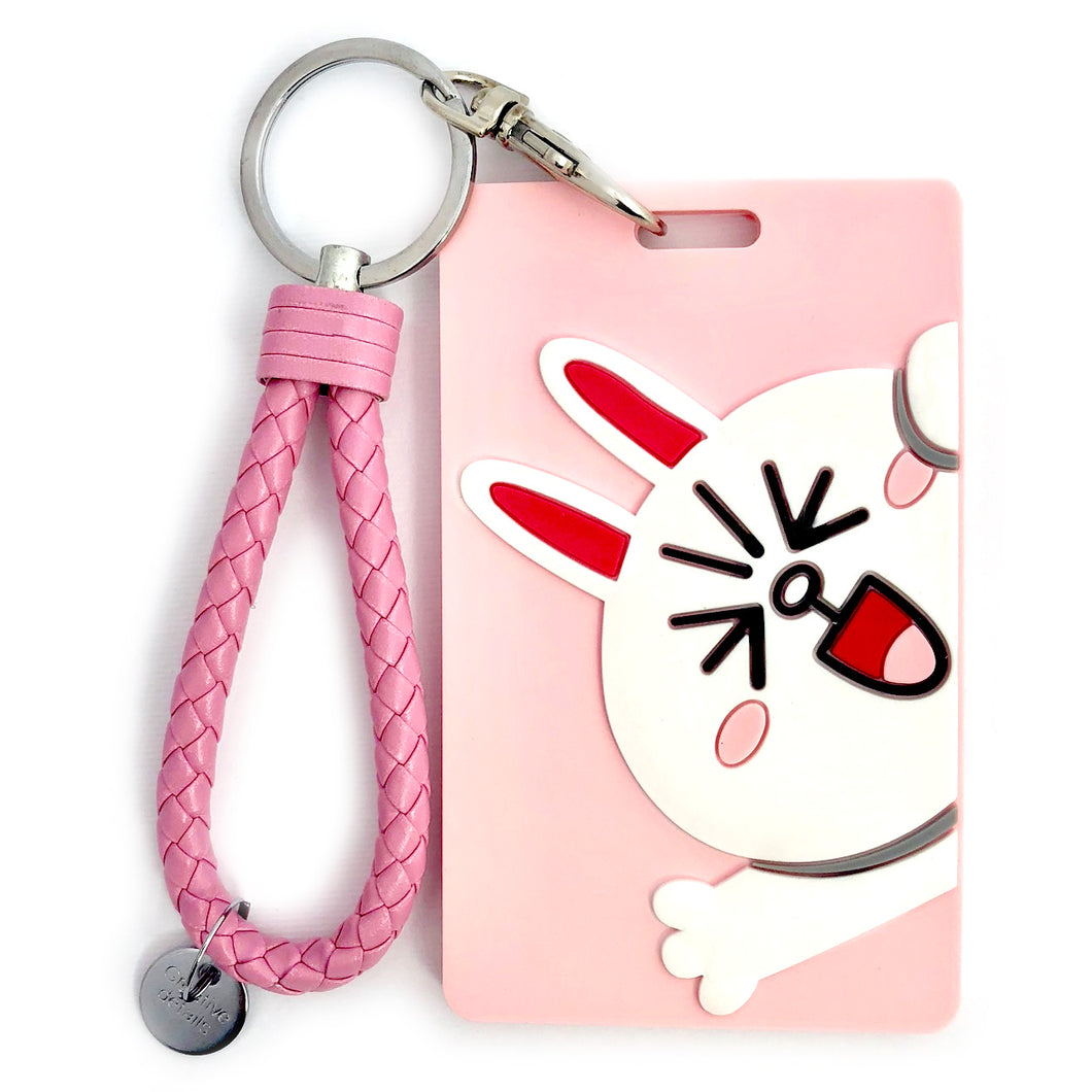 Cony ID Card Holder-Pink